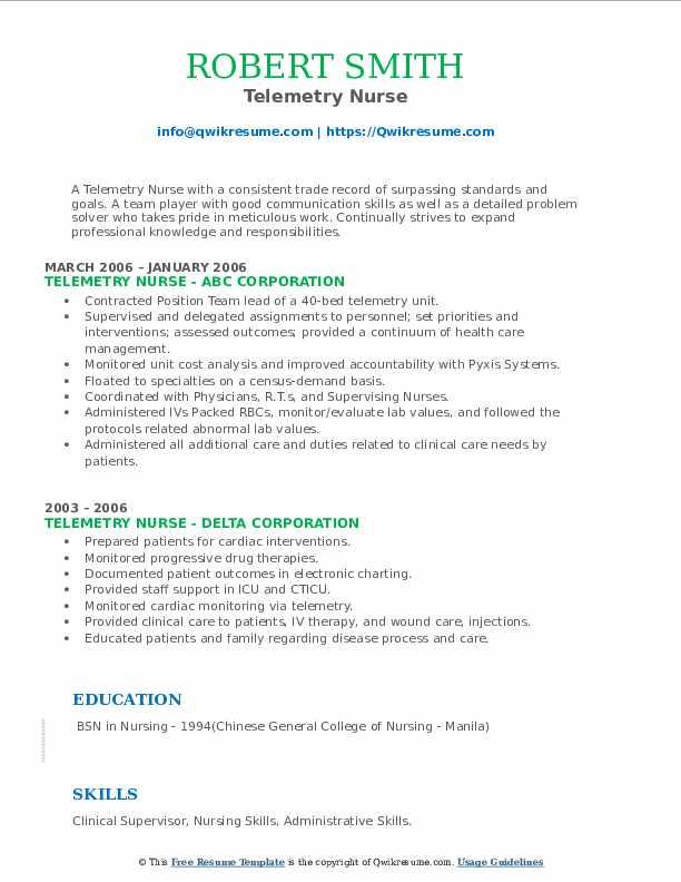 Telemetry Nurse Resume6