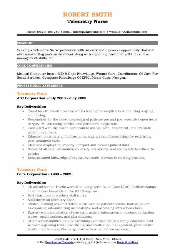Telemetry Nurse Resume7
