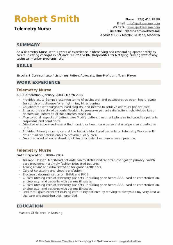 Telemetry Nurse Resume9