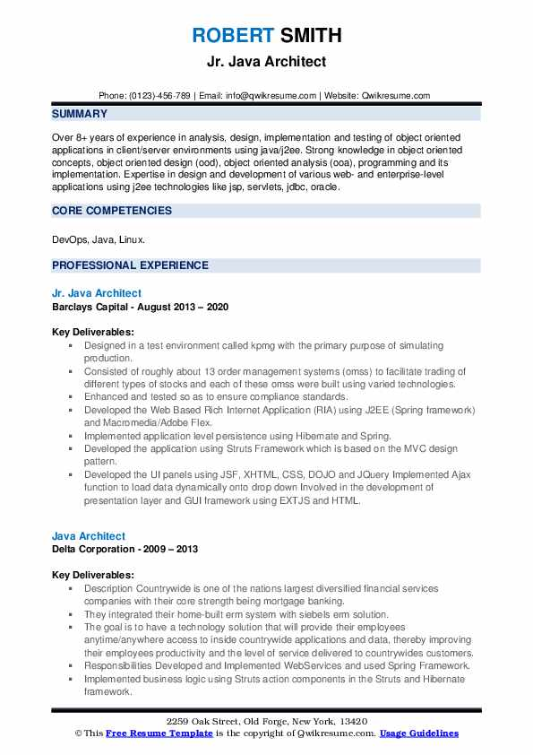 Java Architect Resume7