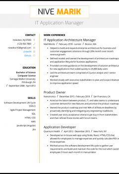 IT Application Manager Resume .Docx (Word)
