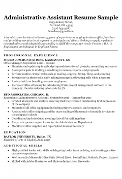 Administrative Assistant > Administrative Assistant .Docx (Word)