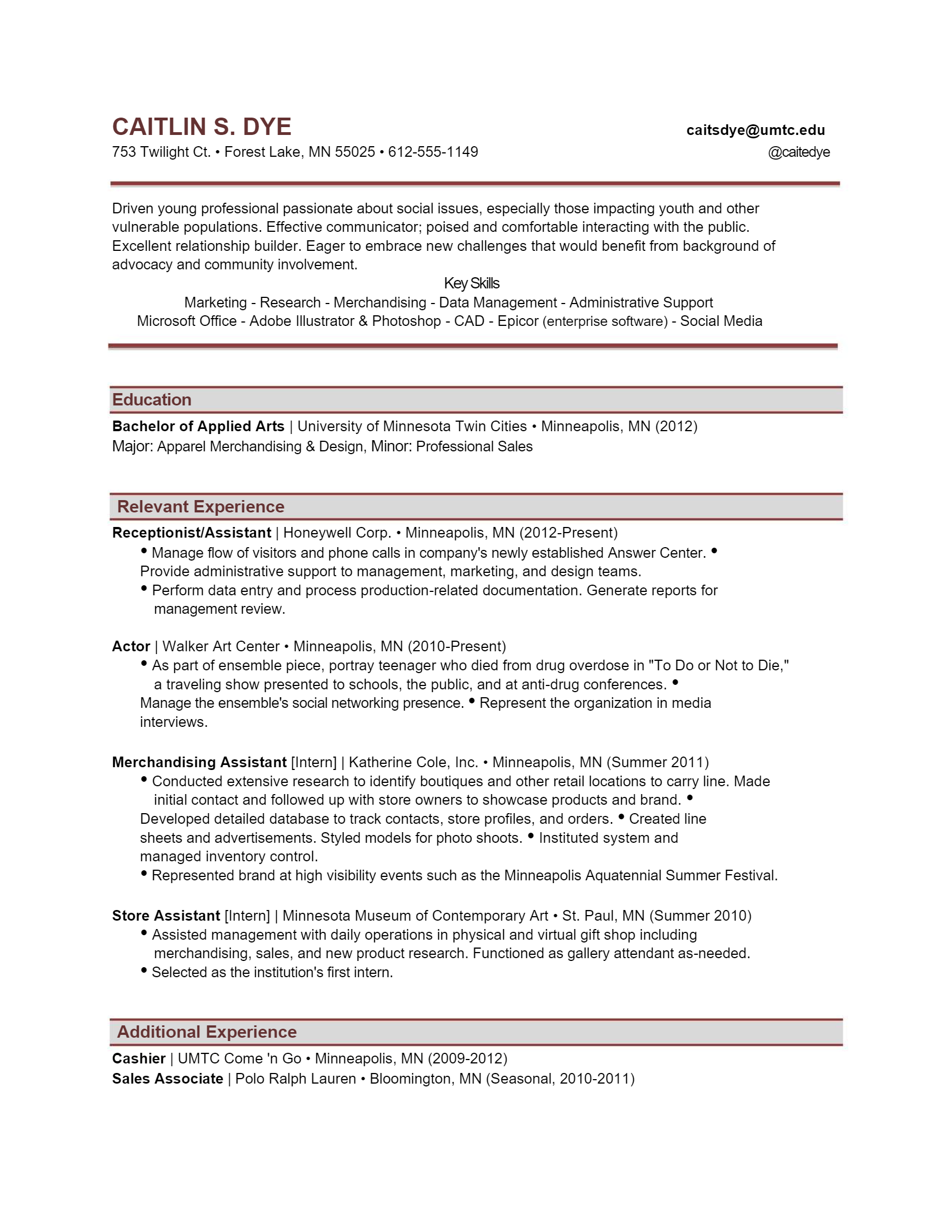 Assistant Resume > Assistant Resume .Docx (Word)
