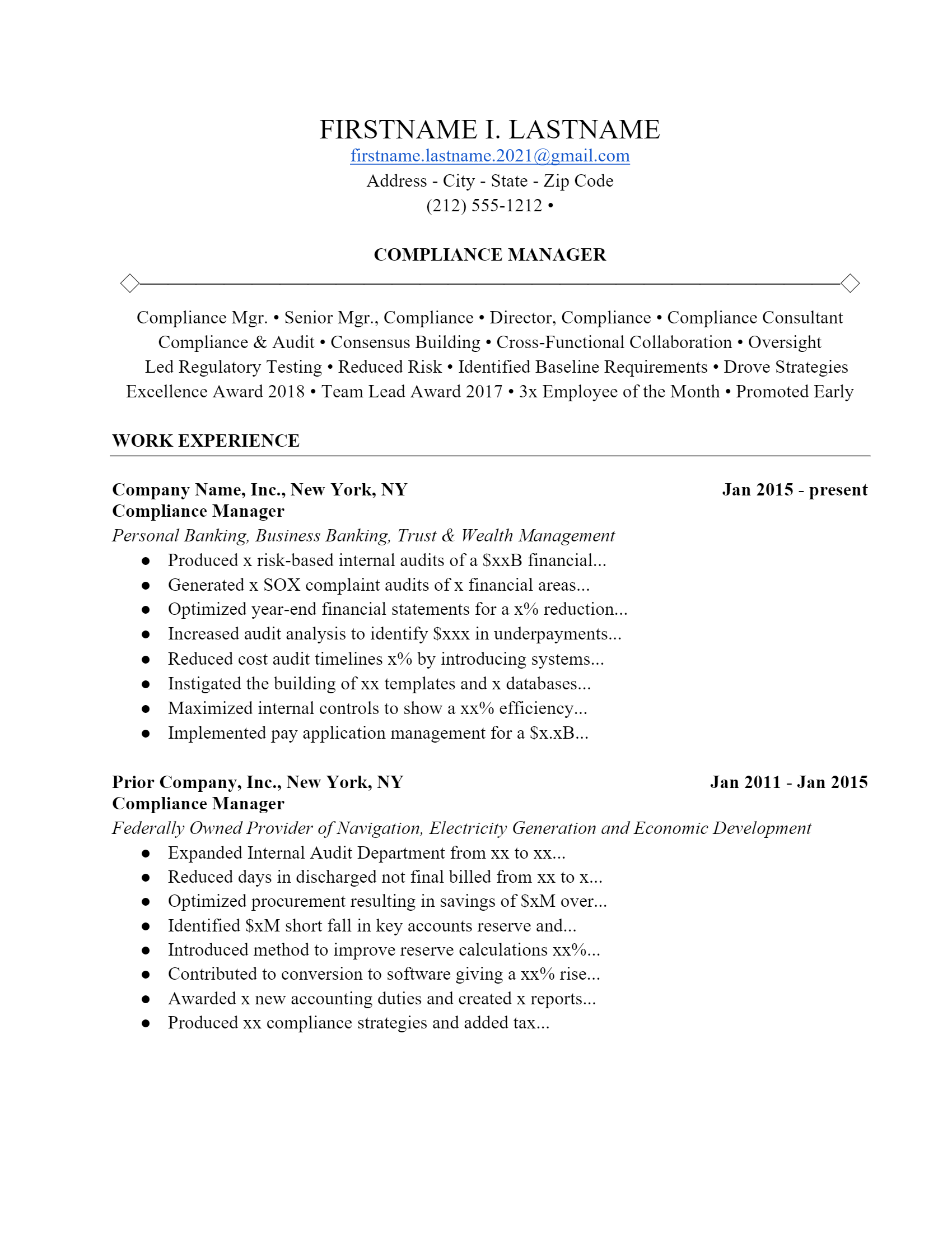 Auditing Resume > Auditing Resume .Docx (Word)
