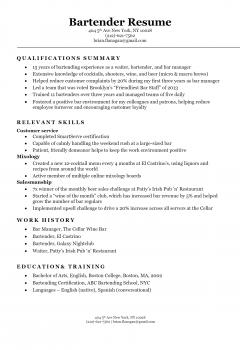 Bartender Resume > Bartender Resume .Docx (Word)