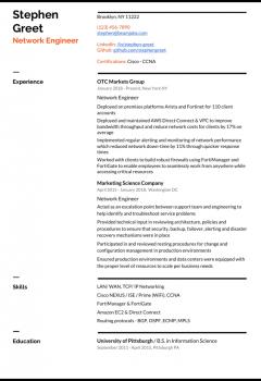 CCNA Network Engineer Resume
