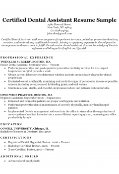Certified Dental Assistant .Docx (Word)