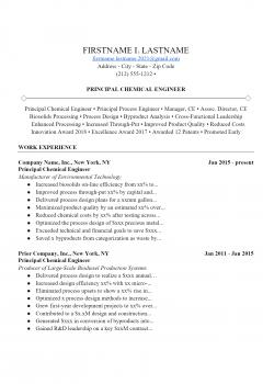 Chemical Engineer Resume > Chemical Engineer Resume .Docx (Word)