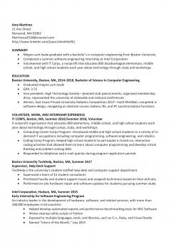 Computer Engineer Resume