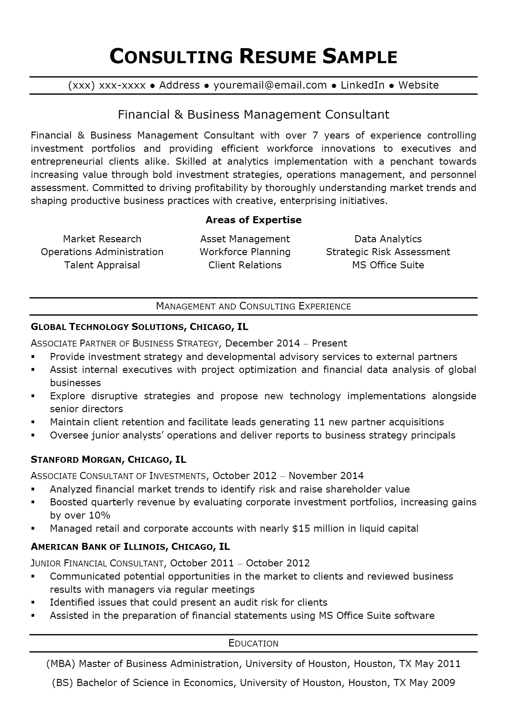 Consultant Resume > Consultant Resume .Docx (Word)