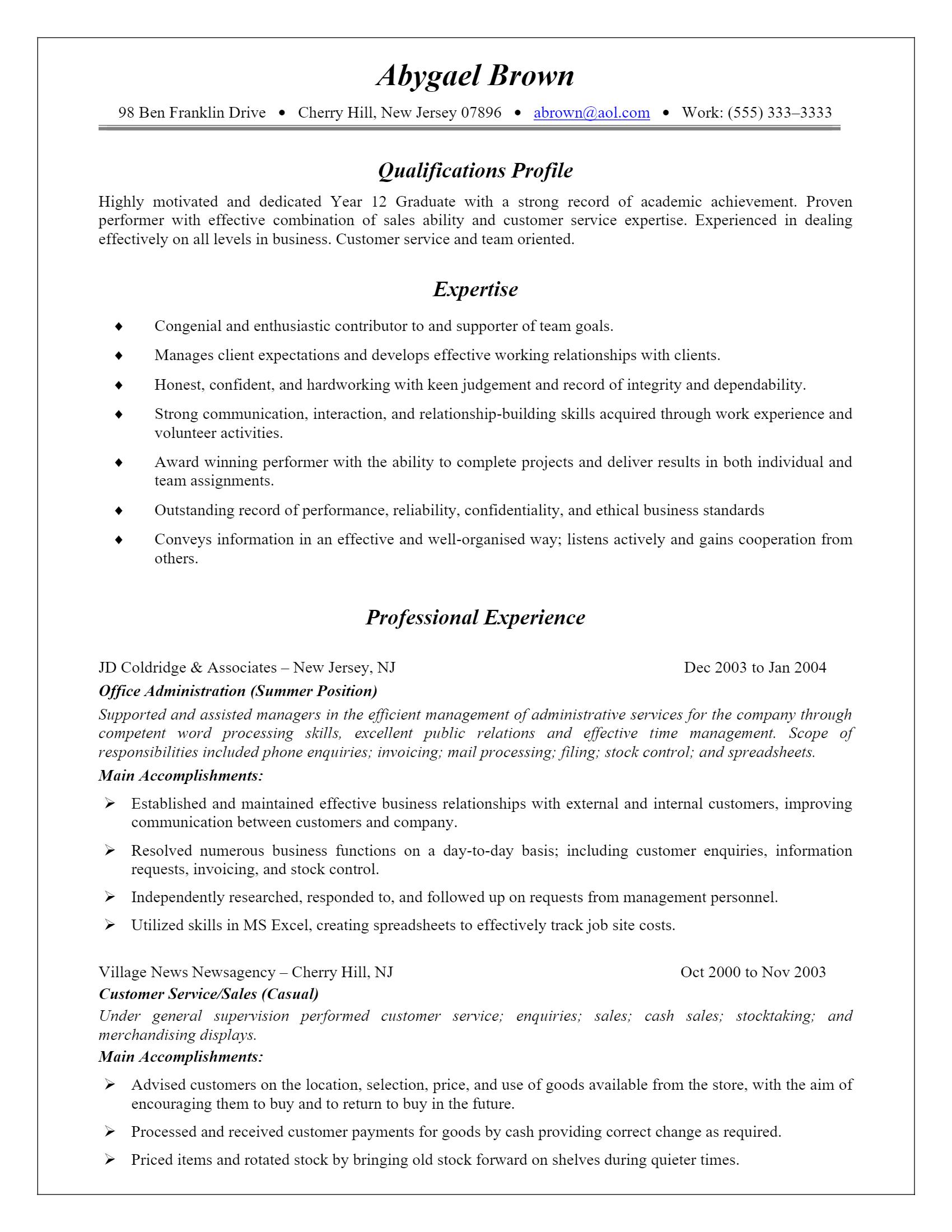 Customer Service Resume > Customer Service Resume .Docx (Word)