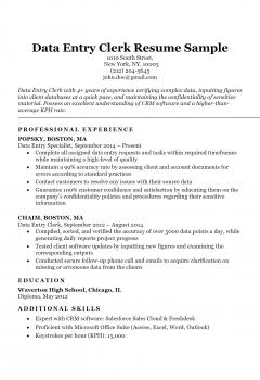 Data-Entry Clerk Resume > Data-Entry Clerk Resume .Docx (Word)