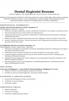 Dental Hygienist Resume .Docx (Word)