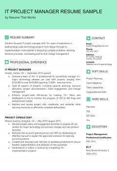 IT Project Manager Resume .Docx (Word)