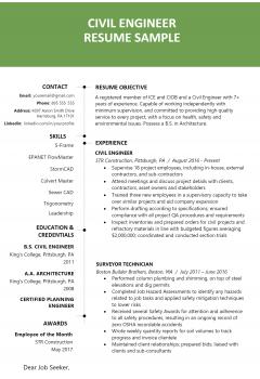Civil Engineering Resume
