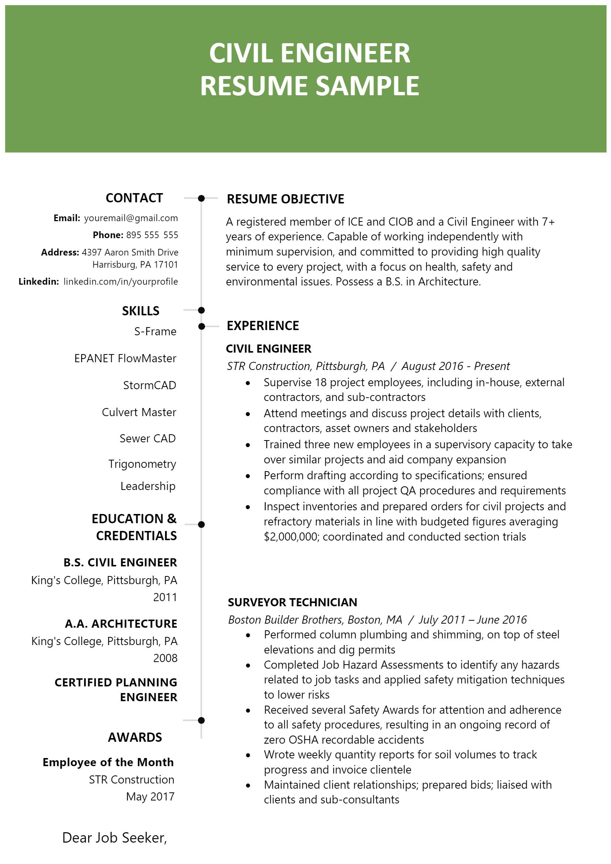 Civil EnginCivil Engineering Resume .Docx (Word)