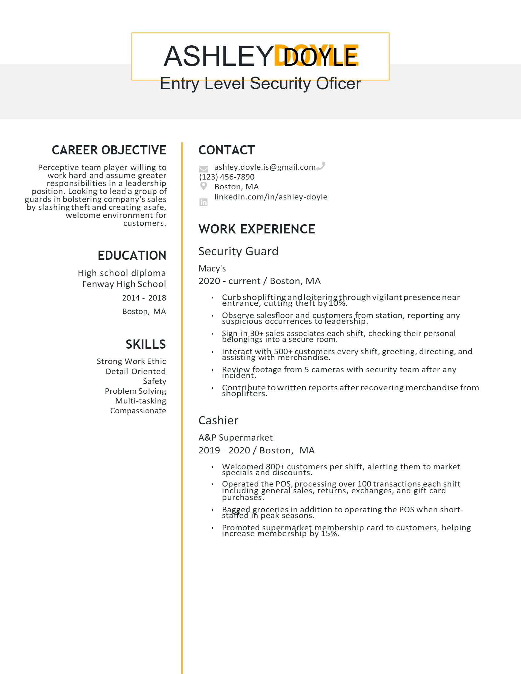 Entry-level Security Officer