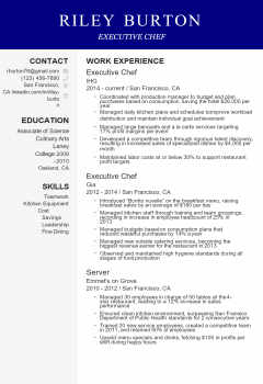 Executive Chef Resume
