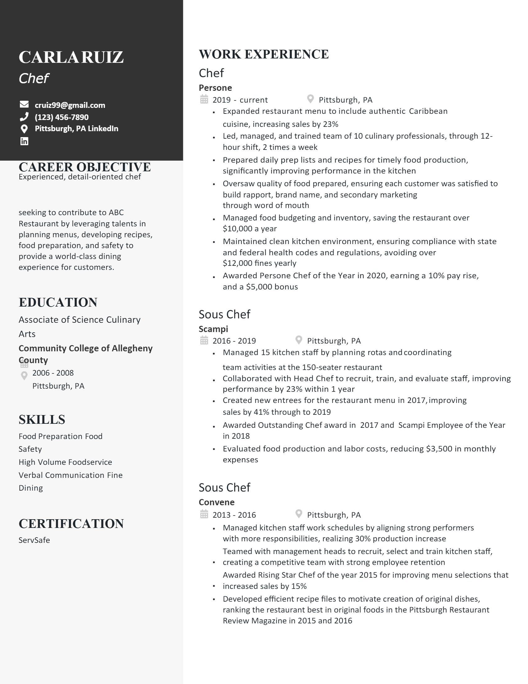 Chef Resume