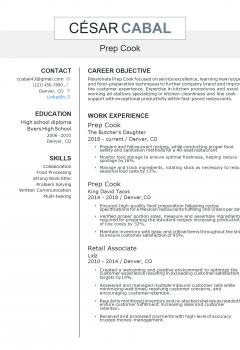 Prep Cook Resume > Prep Cook Resume .Docx (Word)