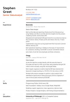 Senior Data Analyst Resume .Docx (Word)