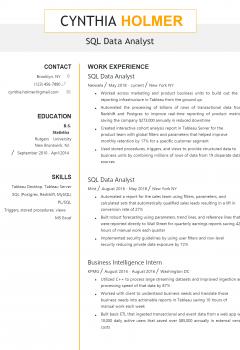 SQL Data Analyst Resume .Docx (Word)