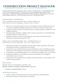 Construction Project Manager .Docx (Word)