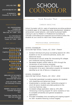 School Counselor Resume .Docx (Word)