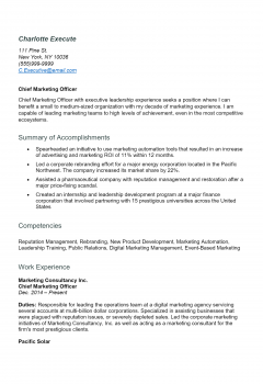 Executive Resume .Docx (Word) .Docx (Word)
