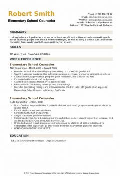 Elementary School Counselor .Docx (Word)