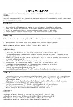 English Teacher Resume .Docx (Word)