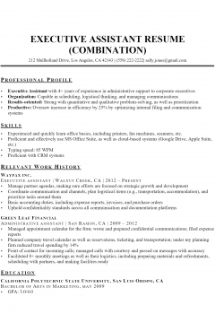 Executive Assistant Resume > Executive Assistant Resume .Docx (Word)