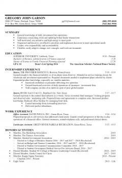 Finance Resume