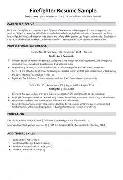 Firefighter Resume .Docx (Word)