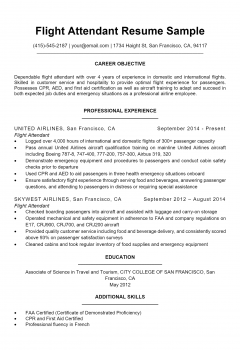 Flight Attendant Resume .Docx (Word)