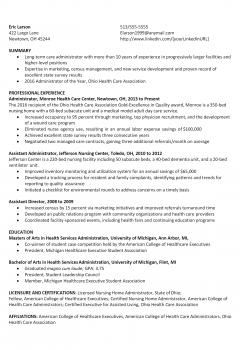 Healthcare Administrator Resume > Healthcare Administrator Resume .Docx (Word)