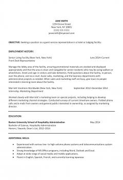 Hospitality Resume .Docx (Word)