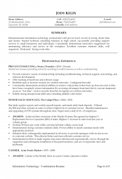 IT Resume .Docx (Word)