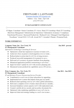 IT Manager Resume .Docx (Word)
