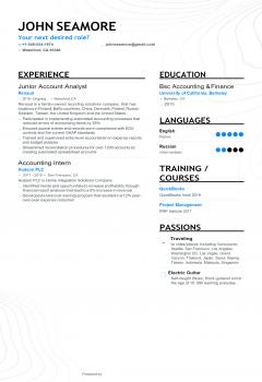 Junior Analyst Resume > Junior Analyst Resume .Docx (Word)