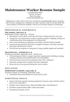 Maintenance Resume .Docx (Word)