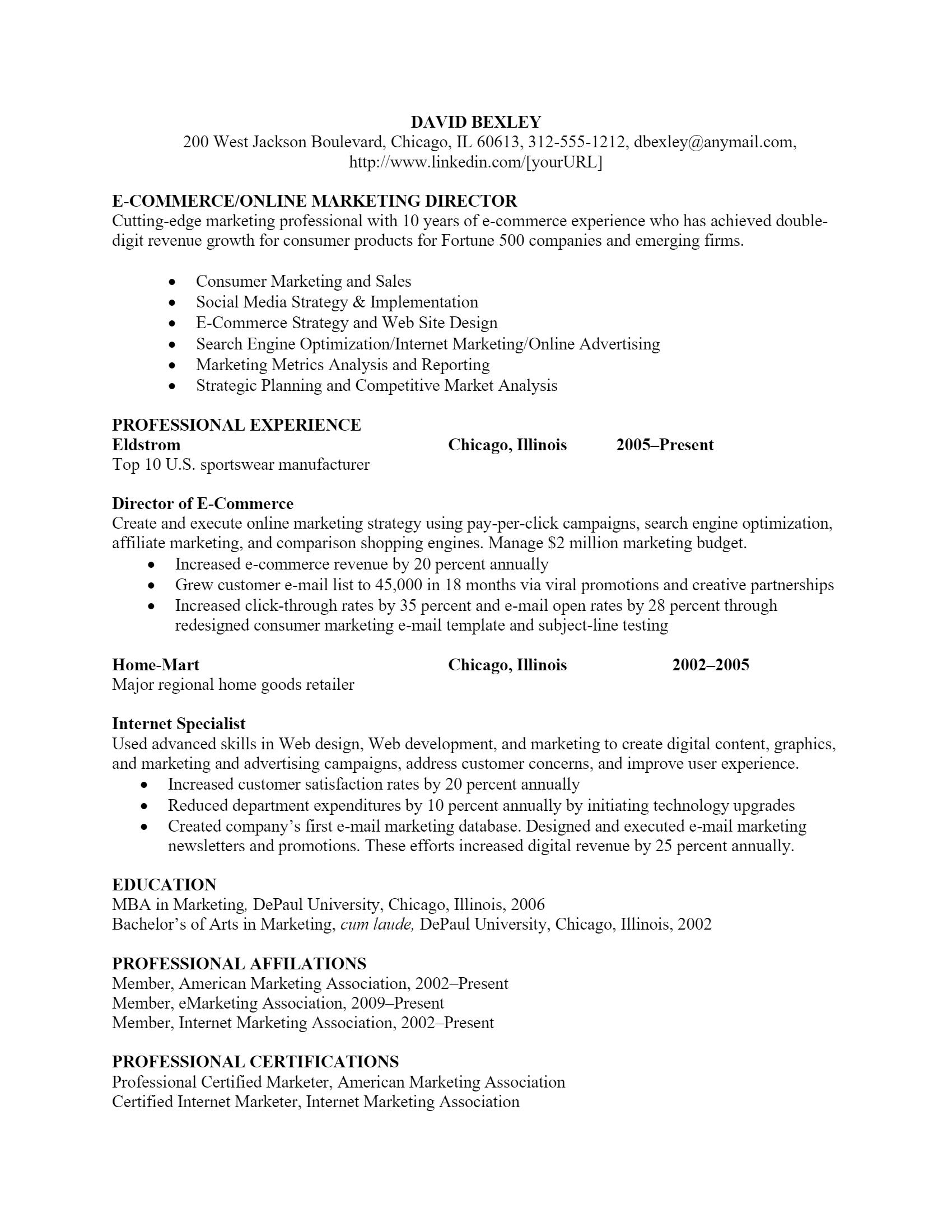 Marketing Director Resume > Marketing Director Resume .Docx (Word)