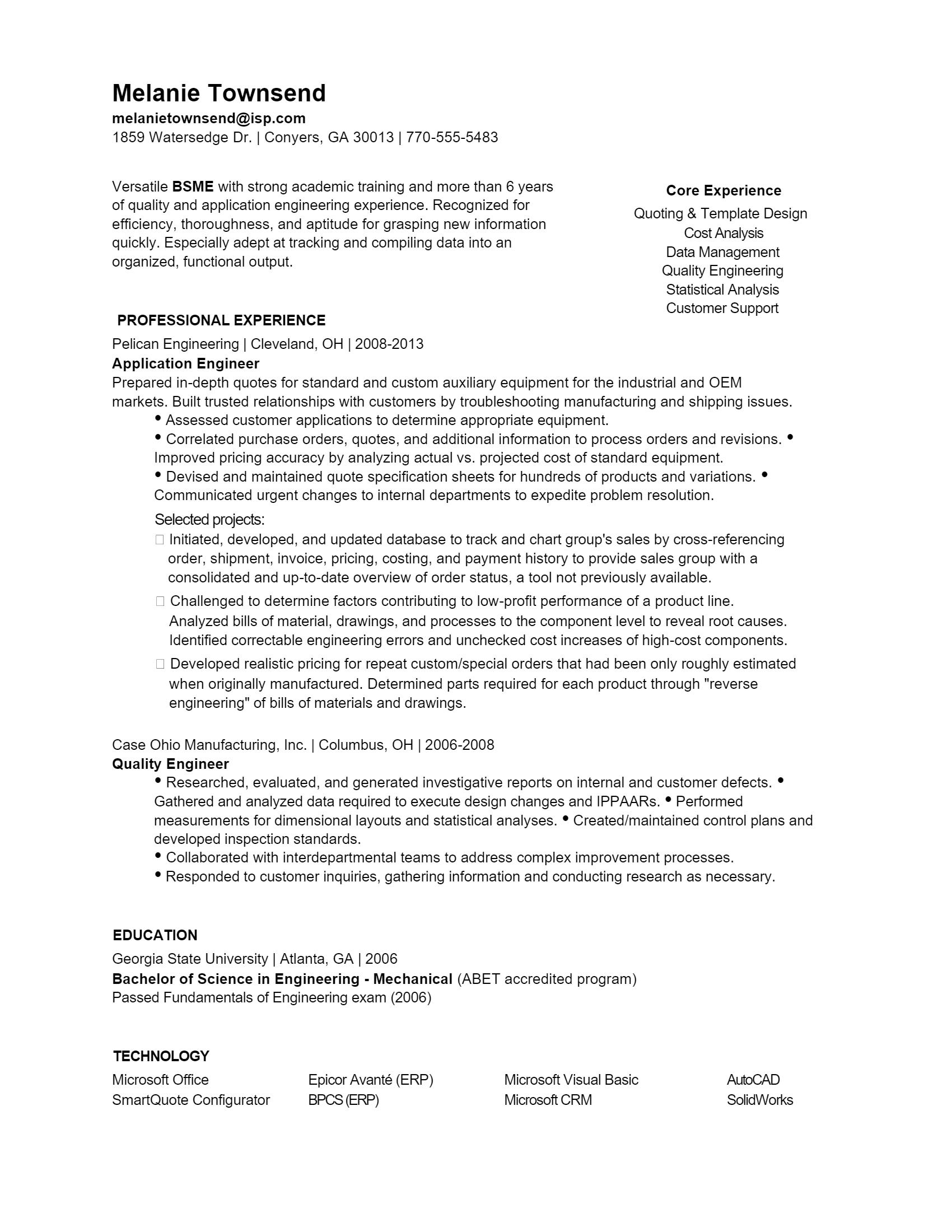 Mechanical Engineer Resume > Mechanical Engineer Resume .Docx (Word)
