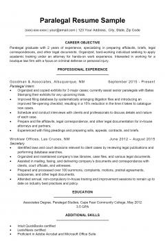 Paralegal Resume > Paralegal Resume .Docx (Word)