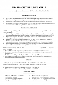 Pharmacist Resume .Docx (Word)