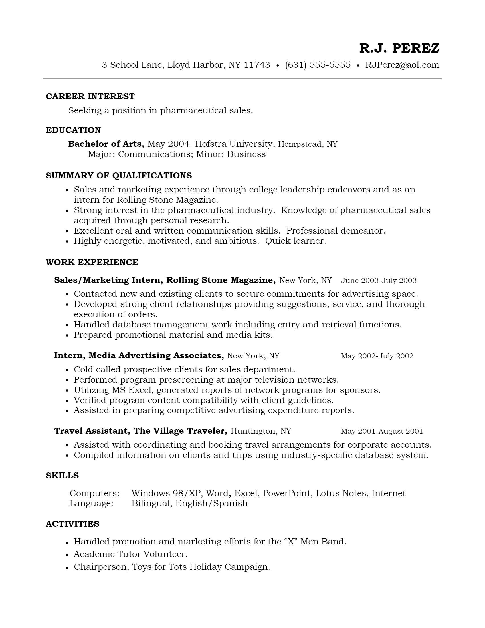 Pharmaceutical Sales Resume > Pharmaceutical Sales Resume .Docx (Word)