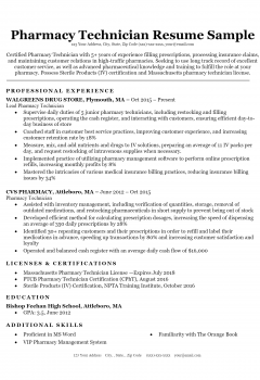 Pharmacy Technician Resume .Docx (Word)