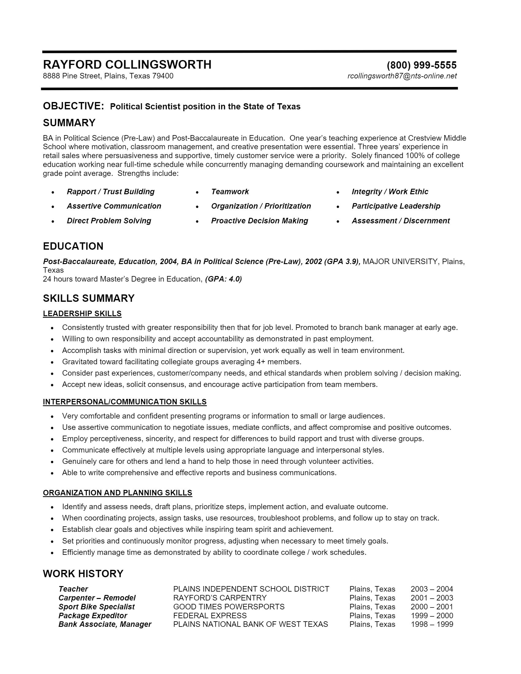 Political Analyst Resume > Political Analyst Resume .Docx (Word)