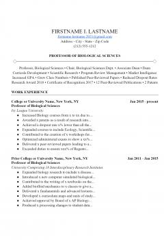 Professor Resume .Docx (Word)