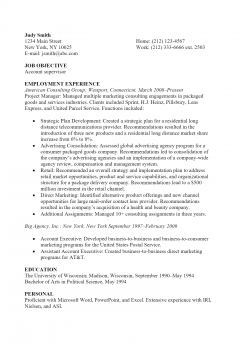 Project Manager Resume .Docx (Word)